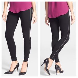 Lysse Zip Detail Ponte Knit Control Top Leggings